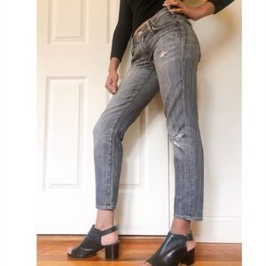 Citizens of Humanity cropped distressed jeans JN